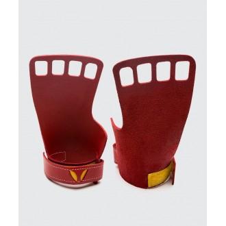 Pánské kožené mozolníky Victory grips 4-Finger - red