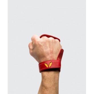 Pánské kožené mozolníky 3-Finger Victory Grips - red