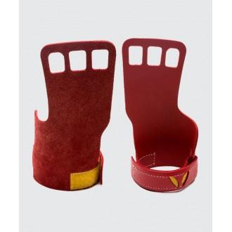 Dámské 3-prsté kožené mozolníky Victory Grips - red