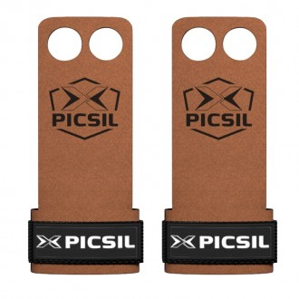 Mozolníky Picsil Raven Grips - 2 prstý - hnědý + černé logo