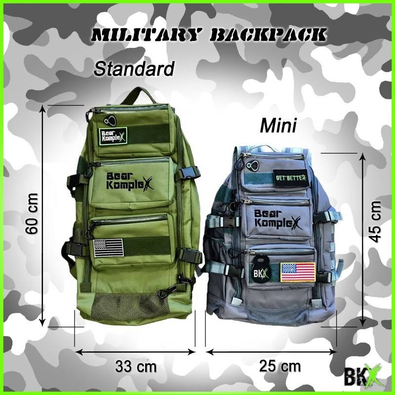 Batoh Bear KompleX Mini Military Backpack - 25l - šedivý