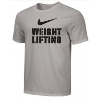 Pánské tričko Nike Weightlifting Big Swoosh - šedivé