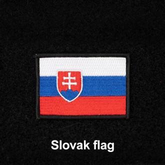Nášivka slovenská vlajka se suchým zipem 7 x 5 cm