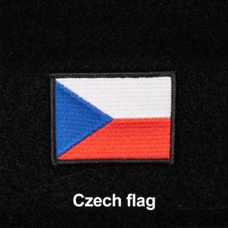 Nášivka české vlajky se suchým zipem 7 x 5 cm