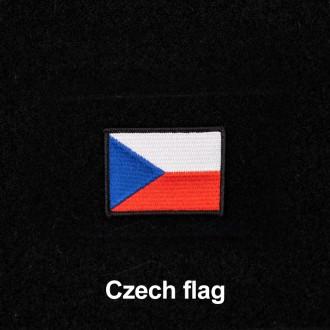 Nášivka české vlajky se suchým zipem 4 x 2.5 cm