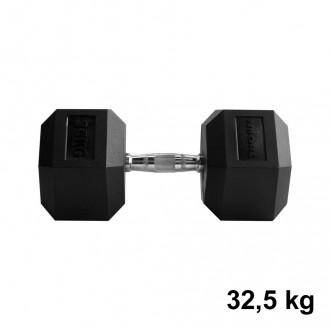 Jednoručka Hexhead Dumbbell Thornfit - 32,5 kg