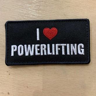 Nášivka I love Powerlifting- 95 x 50 mm se suchým zipem