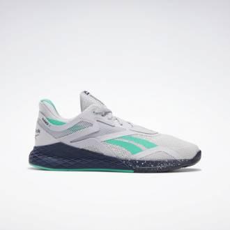Pánské boty Reebok Nano X - Šedivá/Tmavě modrá/ Bílá - FV6668
