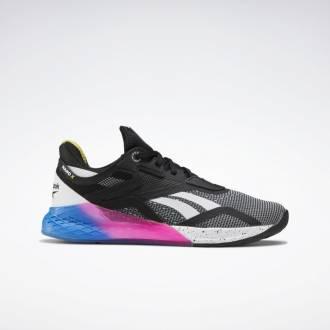 Dámské boty Reebok Nano X - Černá/Modrá/Růžová FW8208