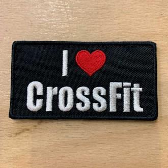 Nášivka I love Crossfit - 85 x 45 mm se suchým zipem