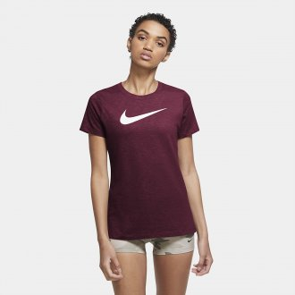 Dámské tréninkové tričko Nike Dri-FIT berry
