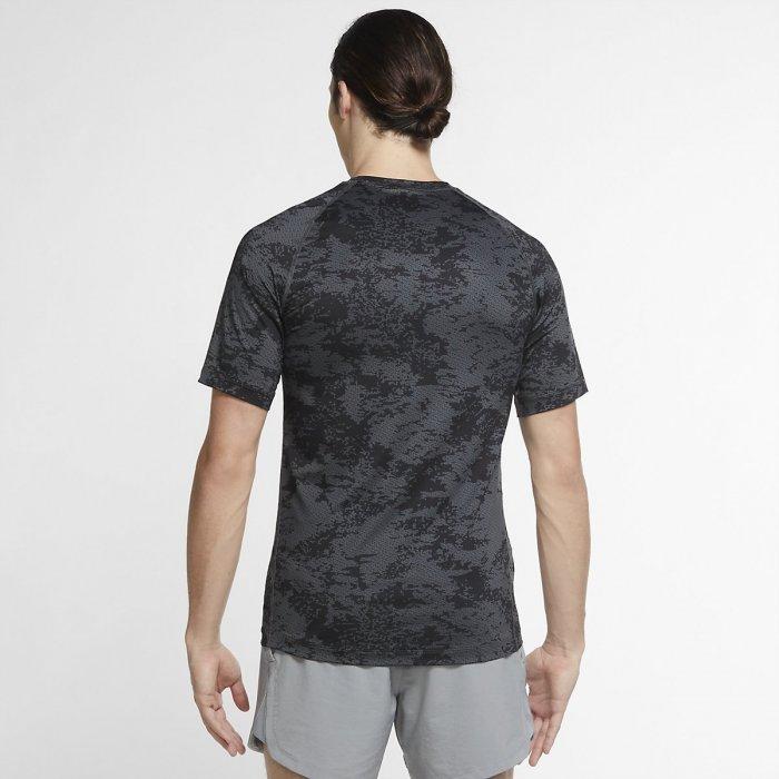 Pánské camo tričko Nike TOP SS SLIM AOP grey