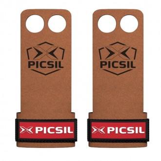 Mozolníky Picsil Raven Grips - 2 prstý - hnědý + červené logo