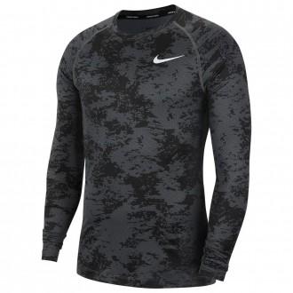 Pánské triko s dlouhým rukávem camo grey