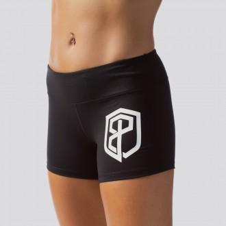Dámské šortky Renewed Vigor Booty Shorts (Black / White Logo)