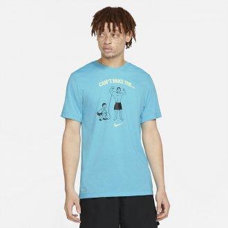 Pánské tričko Nike Dri Fit - Cant Fake The Pump (Blue)