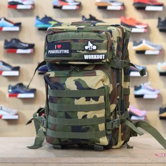 Military batoh WORKOUT - zelené camo