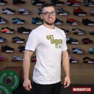 Pánské tričko Nike Get under it - White/Gold