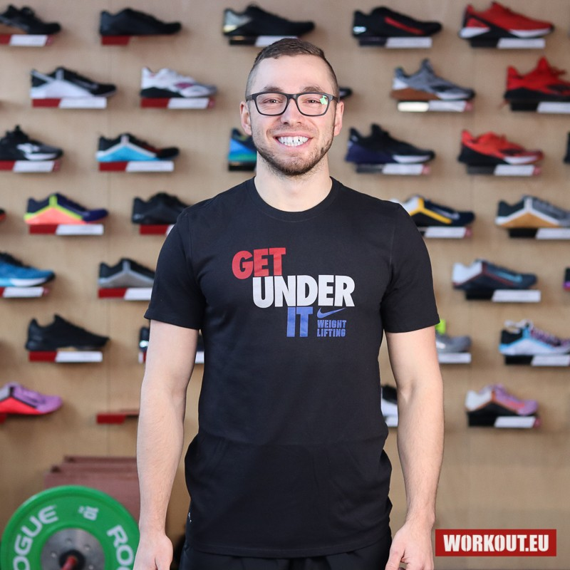 Pánské tričko Nike Get under it - Black/Red/Blue/White