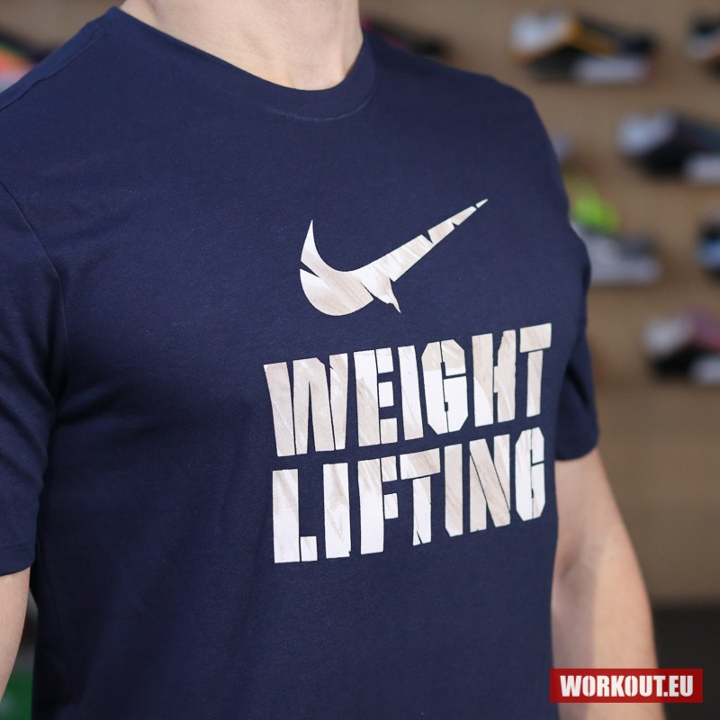 Pánské tričko Nike Weightlifting - Blue/White