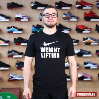 Pánské tričko Nike Weightlifting - Black/White
