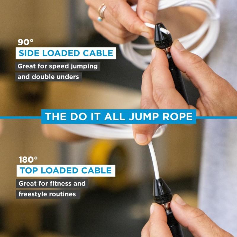 Elitní švihadlo ELITE SRS Bullet FIT Rope - 2x černé lanko