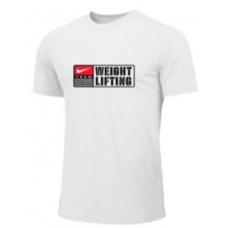 Pánské tričko Nike Weightlifting Team - Bílé