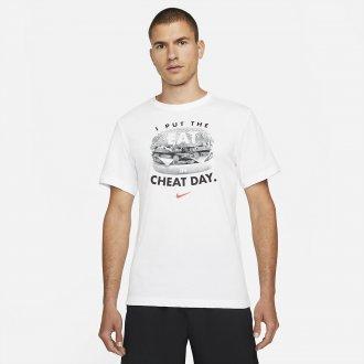 Pánské tričko Nike Cheat day - white