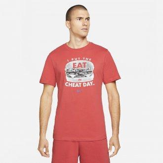 Pánské tričko Nike Cheat day light red