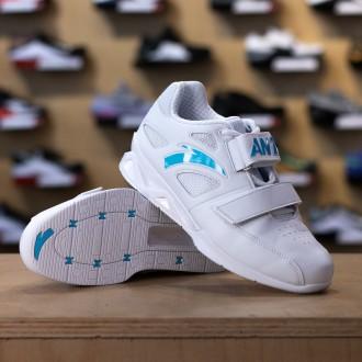 Vzpěračské boty ANTA - bílo modrá