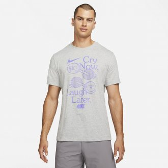 Pánské tričko Nike Laugh later - šedé