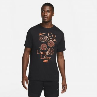Pánské tričko Nike Laugh later - black