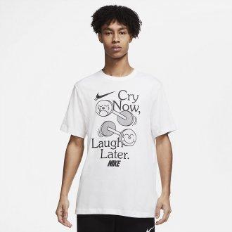 Pánské tričko Nike Laugh later - white