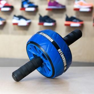 Duální posilovací kolečko Workout - modré