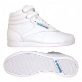 Dětské bílé závodní boty na aerobik Reebok Freestyle HI f/s J93535