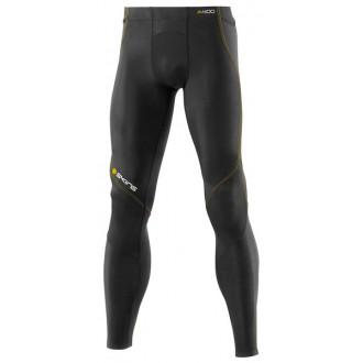 Pánské dlouhé kompresní kalhoty A400 Gold black- DOPRAVA ZDARMA