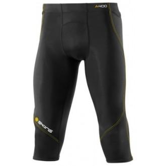 Pánské kompresní 3/4 kalhoty Skins A400 Black - DOPRAVA ZDARMA