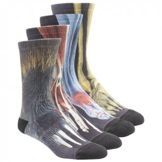 Pánské ponožky Reebok CrossFit PRIN CRW SCK 4PI AJ5787