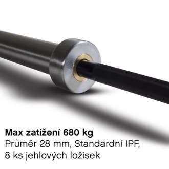 Olympijská osa IPF Elite pánská 20 kg- DOPRAVA ZDARMA