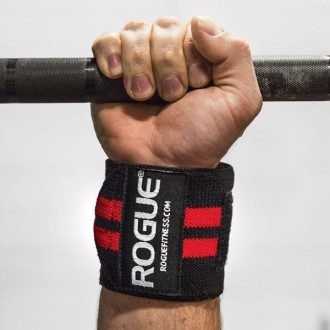 Rogue Wrist Wraps Black/Red 18