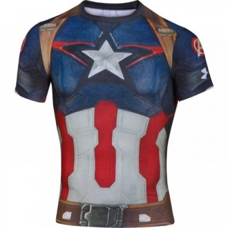 Pánské kompresní tričko Under Armour Alter Ego Captain America