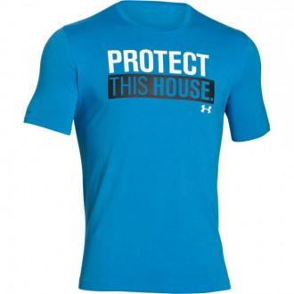 Pánské tričko Under Armour s nápisem modré