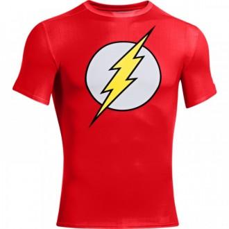 Pánské kompresní tričko Under Armour Flash červené