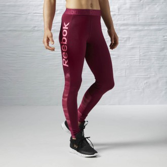 Dámské legíny Reebok Workout Ready logo tights AY1871