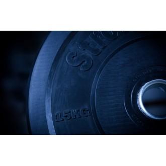 Černé bumper kotouče 15 kg