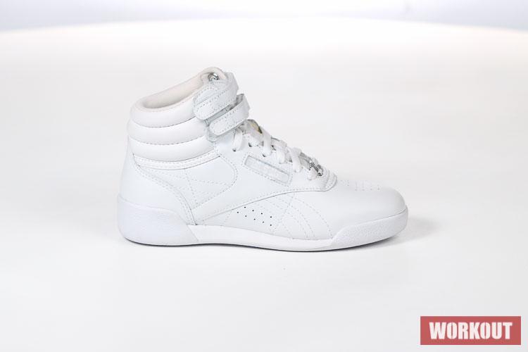 Značkové dámské produkty Reebok Dětské bílé závodní boty na aerobik Reebok Freestyle  HI Classic f s - 50162 patří do kategorie Boty. 87a406f9cd